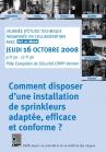 Sprinkleurs : comment disposer d'une installation de sprinkleurs adaptée, efficace et conforme -16/10/08