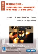 """Recueil du colloque """"Sprinkleurs : comprendre les innovations pour faire les bons choix"""" du 18/09/14"""