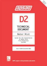 Technical document APSAD D2 - Water Mist Guide for the Installation of Water Mist Fire Protection Systems