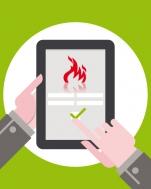 Pack 25 permis de feu numériques compatible smartphone, tablette, PC/MAC