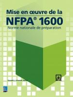 Mise en oeuvre de la NFPA 1600 eBook