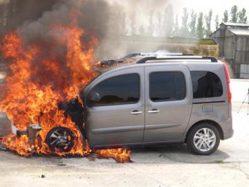 Incendie de véhicule