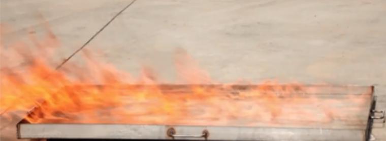 Essai comportement au feu Eurenco