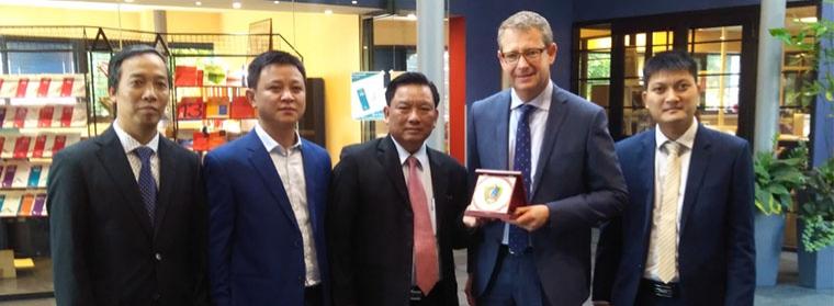 A visiting Vietnamese delegation.
