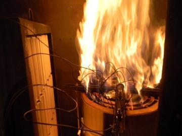 Essai de transformateur de flamme sur bobines
