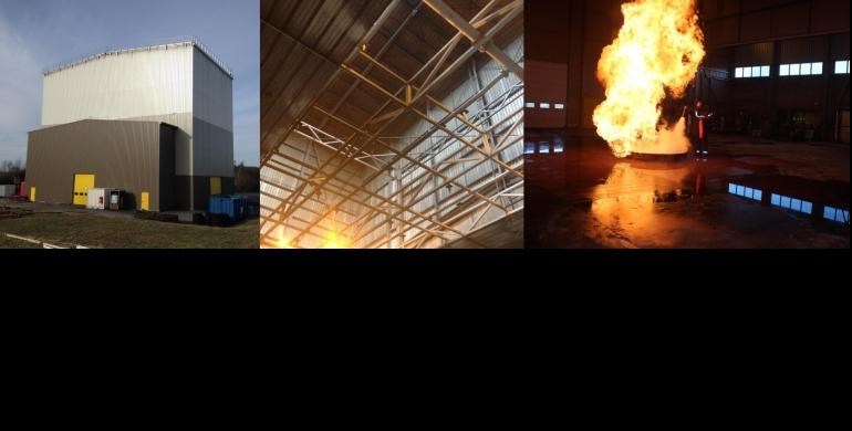 Hall feu unique en Europe avec son plafond mobile