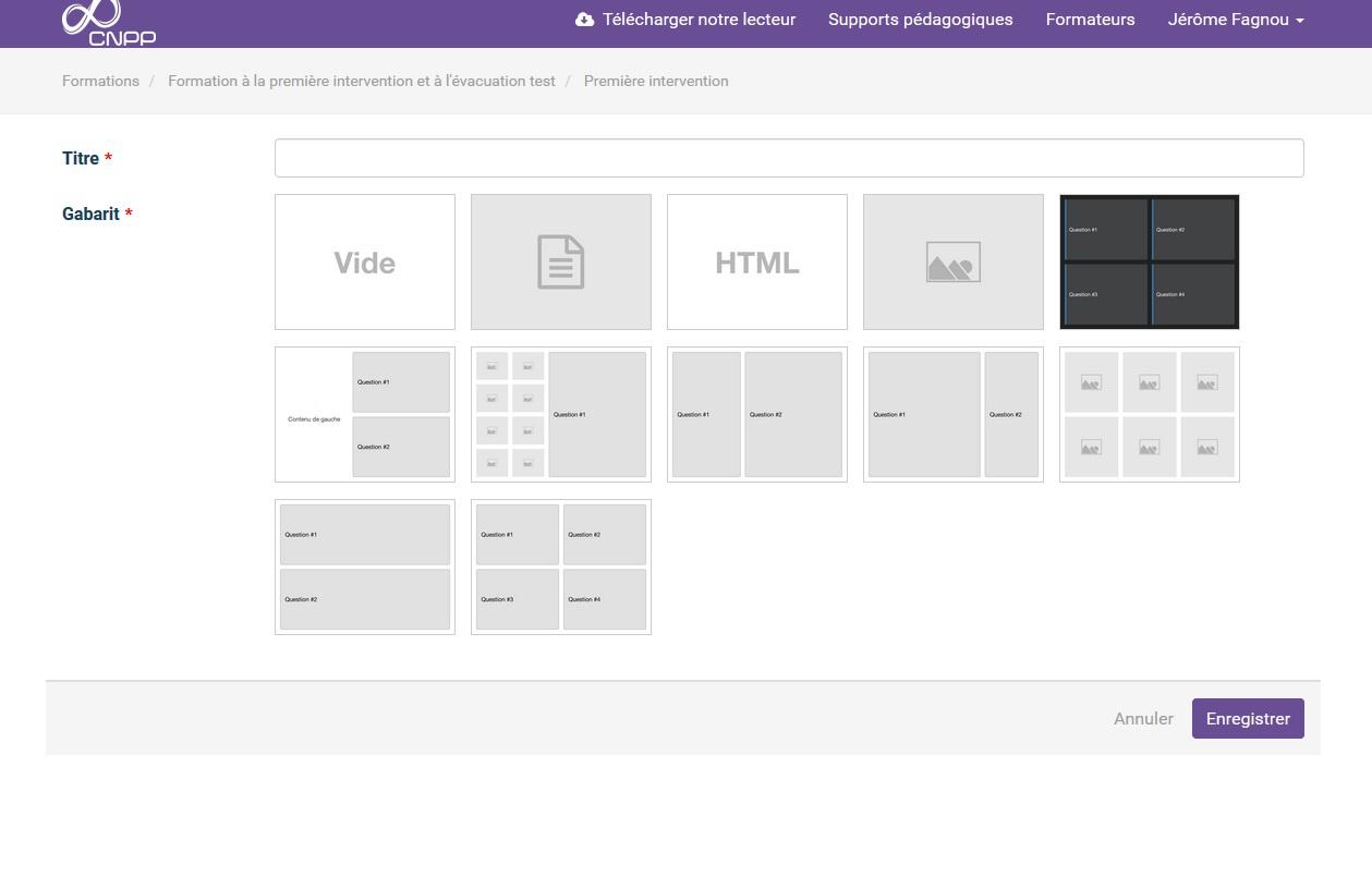 Un large choix de template pour pouvoir créer de nouvelles diapositives !