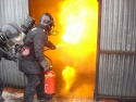 Fire-fighting exercise when wearing a Self-Contained Breathing Apparatus (SCBA)