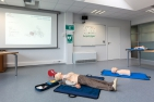 Fully-equipped training room for workplace first-aiders