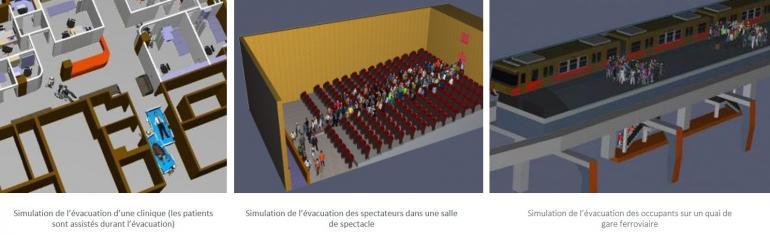 simulation d'évacuation